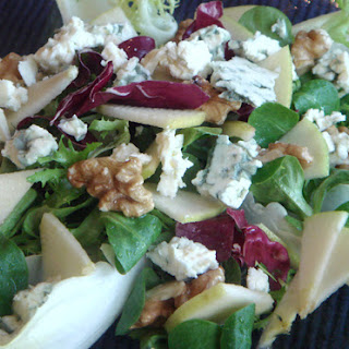 French Apple Chicory Blue Cheese and Walnut Salad.