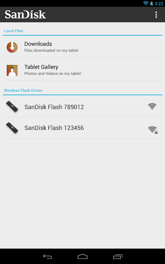 SanDisk Wireless Flash Drive- screenshot