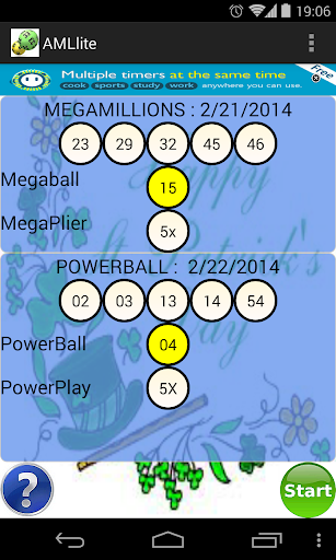 MegaLottery PowerBall scanner