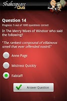 Screenshot of FreePlay Shakespeare Quiz