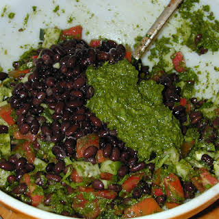 Chimichurri Sauce with Black Beans and Lentils.