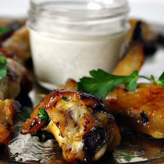 Honey Sriracha Wings (Baked!) with Creamy Lime Dip.