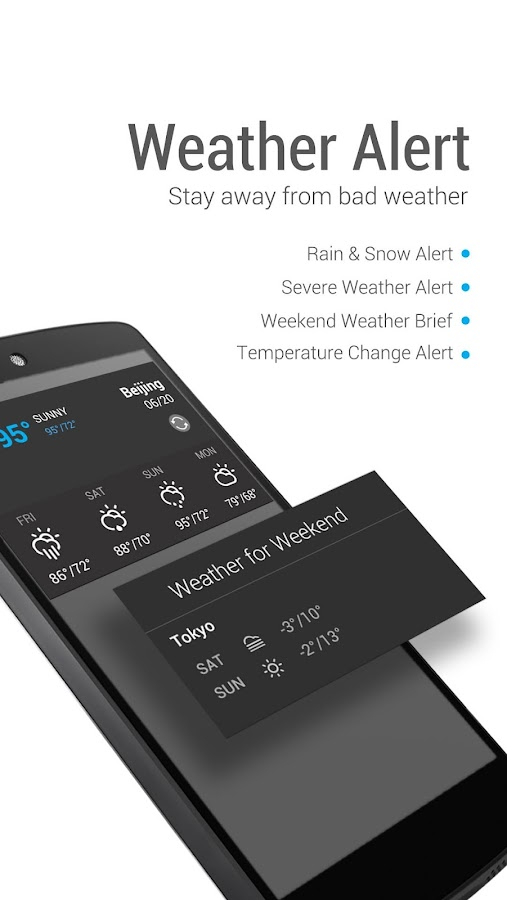 Amber Weather & Clock Widget - screenshot