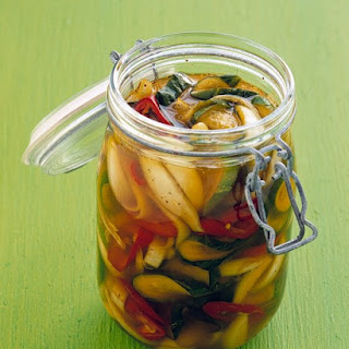 Pickled Cucumbers and Jalapenos.