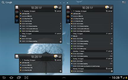 All-in-One Agenda widget Screenshot 9