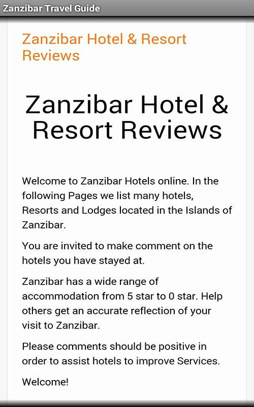 Zanzibar Travel Guide- screenshot