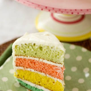 Colorful Easter Egg Layered Cake.