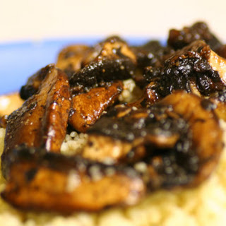 Balsamic Braised Mushrooms and Couscous.