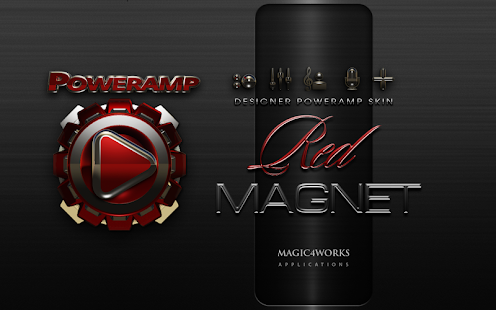 Poweramp skin theme Red Magnet
