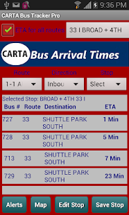 CARTA Bus Tracker Pro- screenshot thumbnail
