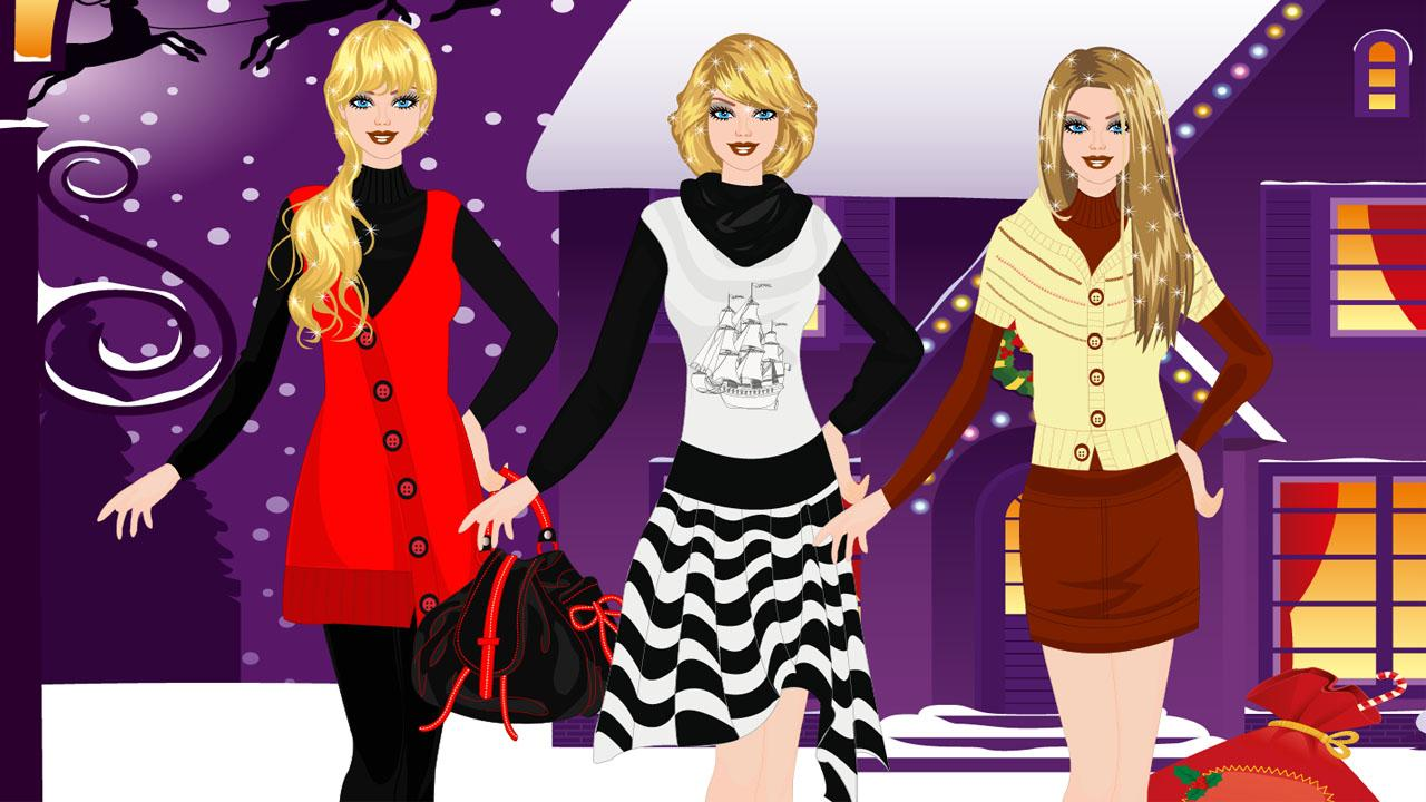 Barbie in Winter Dress Up Game - screenshot