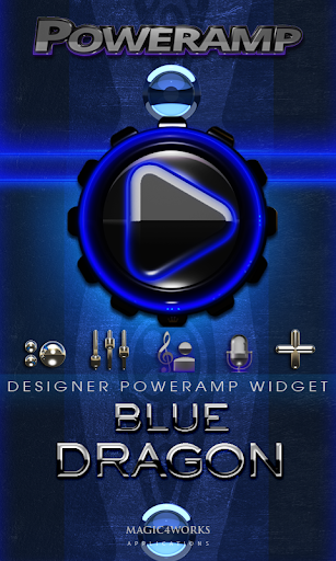 Poweramp Widget Blue Dragon