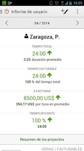 Time Tracking by primaERP: miniatura de captura de pantalla