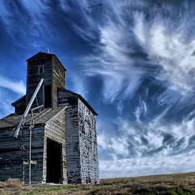 Clouds by Gaylord Mink - Landscapes Cloud Formations ( clouds, grain elevator, high clouds, cloud formation,  )