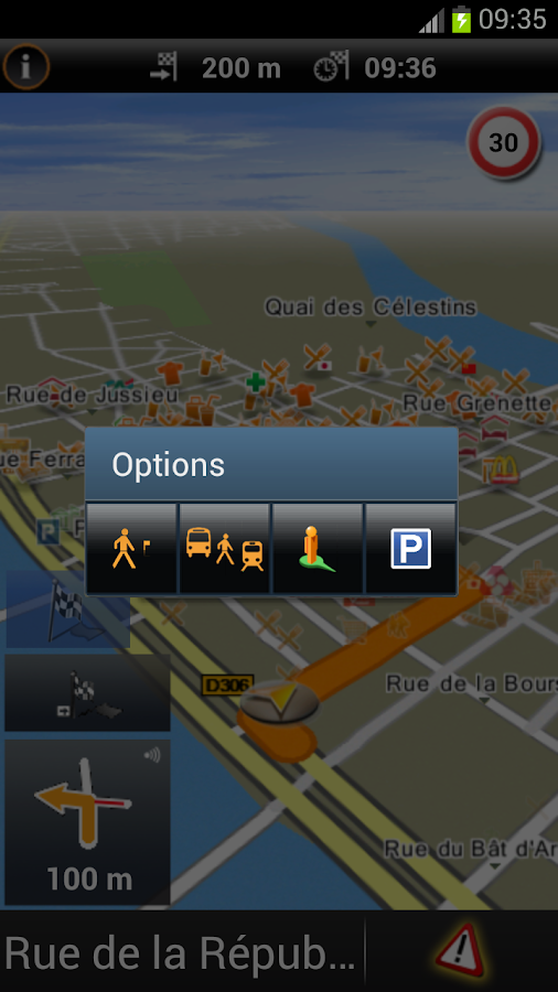 Garmin HUD Europe - screenshot