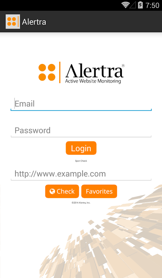 Alertra- screenshot