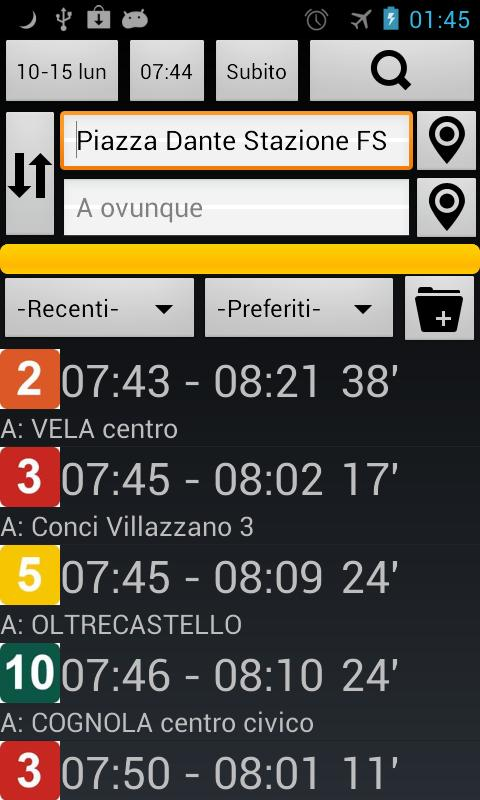 Trento Bus and Train - screenshot