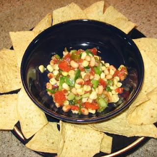 Texas Caviar With Black-Eyed Peas And Corn.