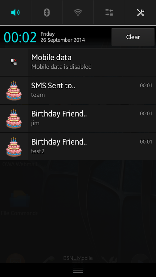 Birthday messenger