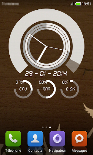 Advanced Clock Live Wallpaper