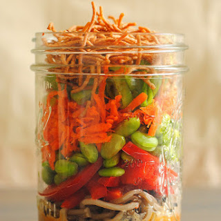 Asian Noodle Salad Jars.