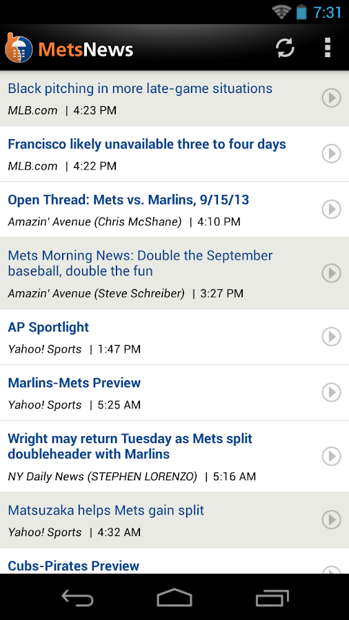 ZM: Mets News - screenshot