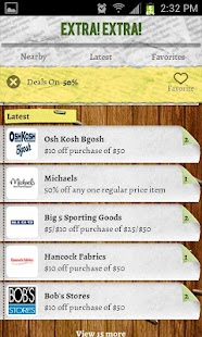 Extra Extra Deals and Coupons - screenshot thumbnail
