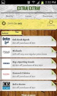 Extra Extra Deals and Coupons - screenshot thumbnail