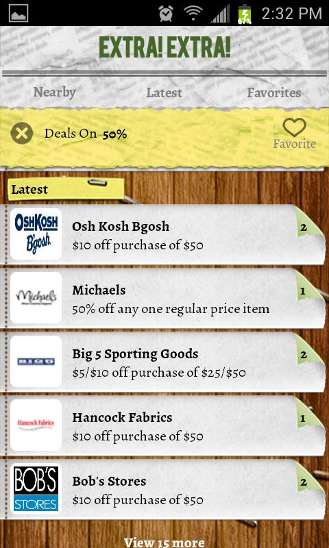 Extra Extra Deals and Coupons - screenshot