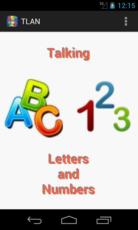 Talking Letters And Numbers- screenshot