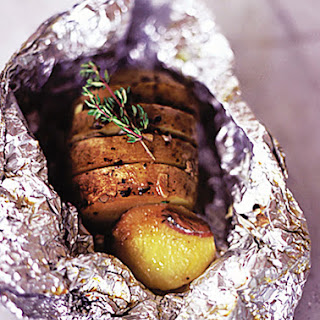 Garlic, Thyme & Anchovy Baked Potatoes.