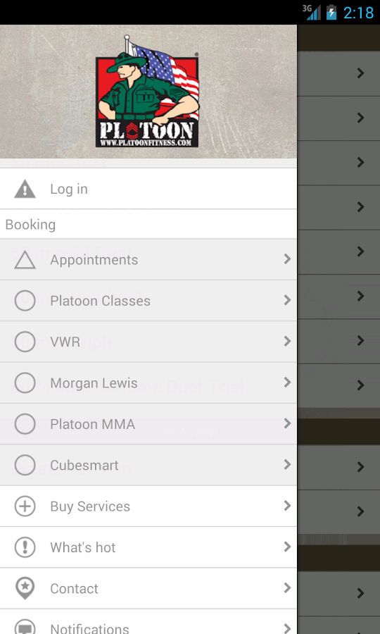 Platoon Fitness- screenshot