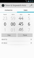 Screenshot of Timer & Stopwatch Holo