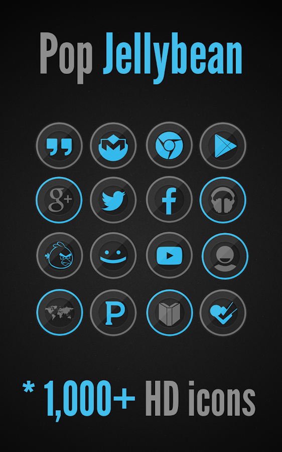 Pop Blue - Icon Pack - screenshot