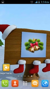 Christmas 3D Snowman lwp - screenshot thumbnail