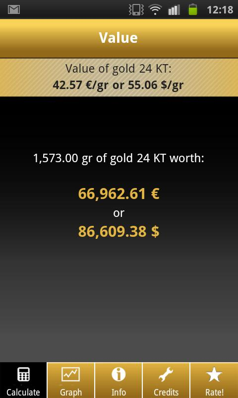 Gold Price Calculator Live - screenshot