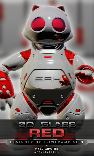 poweramp skin red 3d