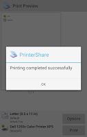 Screenshot of PrinterShare Print Service