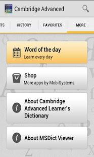 Cambridge Advanced Learners - screenshot thumbnail