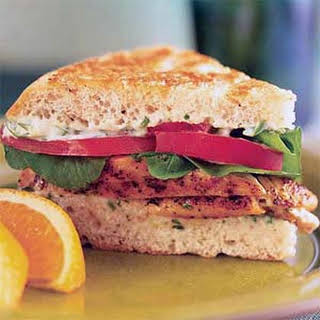 Spicy Chicken and Arugula Sandwich.