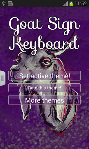 Goat Sign Keyboard