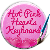 Keyboard Hot Pink Hearts