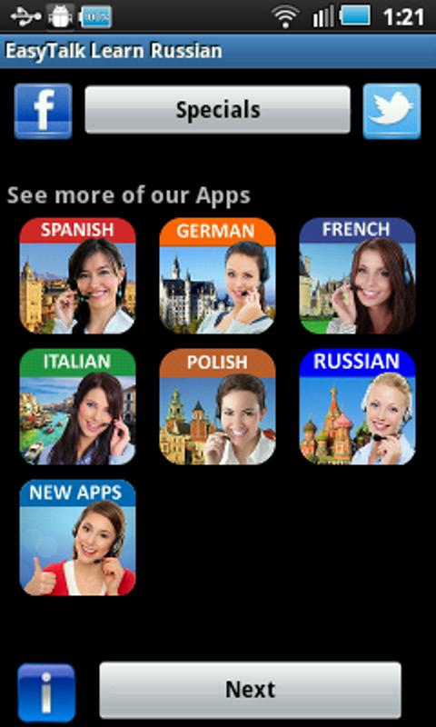 EasyTalk Learn Russian Free - screenshot