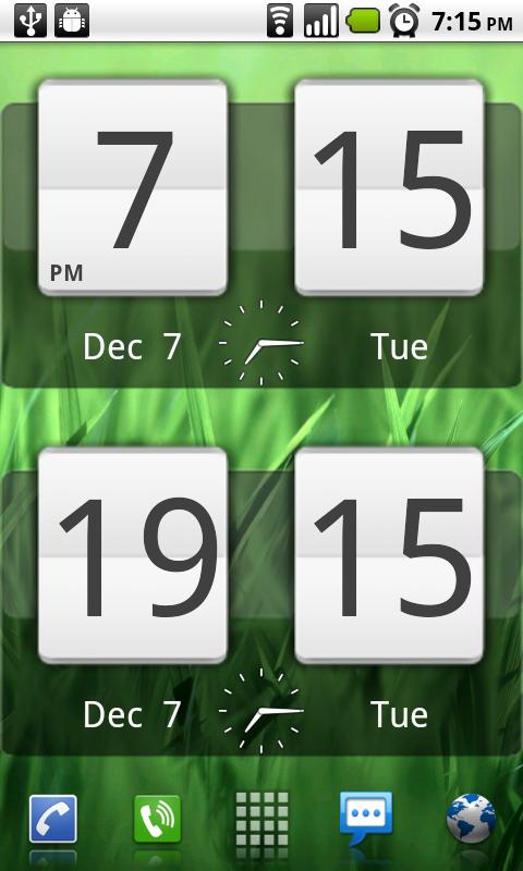 Sense Analog Clock Widget - screenshot