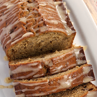 Caramelized Banana Bread with Brown Butter Glaze.