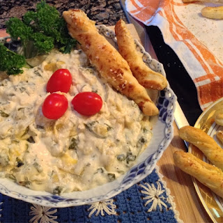 Baked Spinach Artichoke Dip.