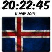 Ísland Digital Clock