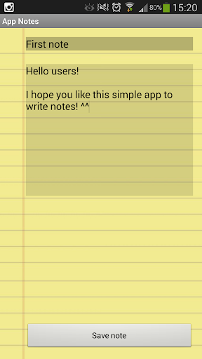 Simple app notes