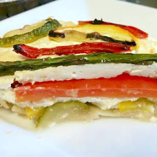 Grilled Summer Vegetable Pie With Lemon Ricotta.