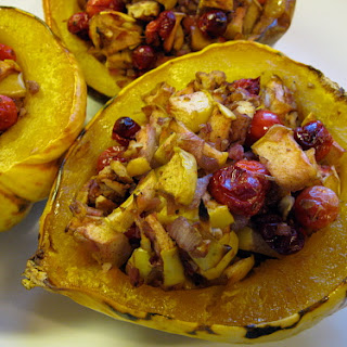 Apple Cranberry Stuffed Squash